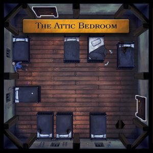 The Attic Bedroom from The Awful Orphanage